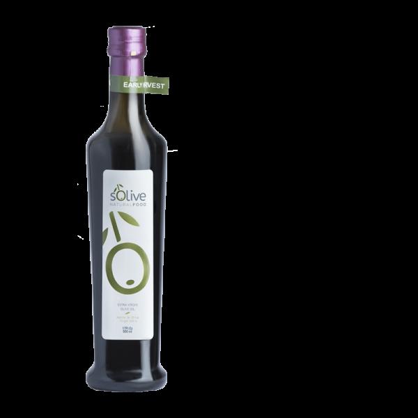 Aceite de oliva en botella de 0.5 litros