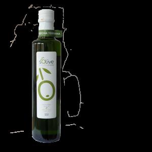 Botella de aceite de oliva de cosecha temprana