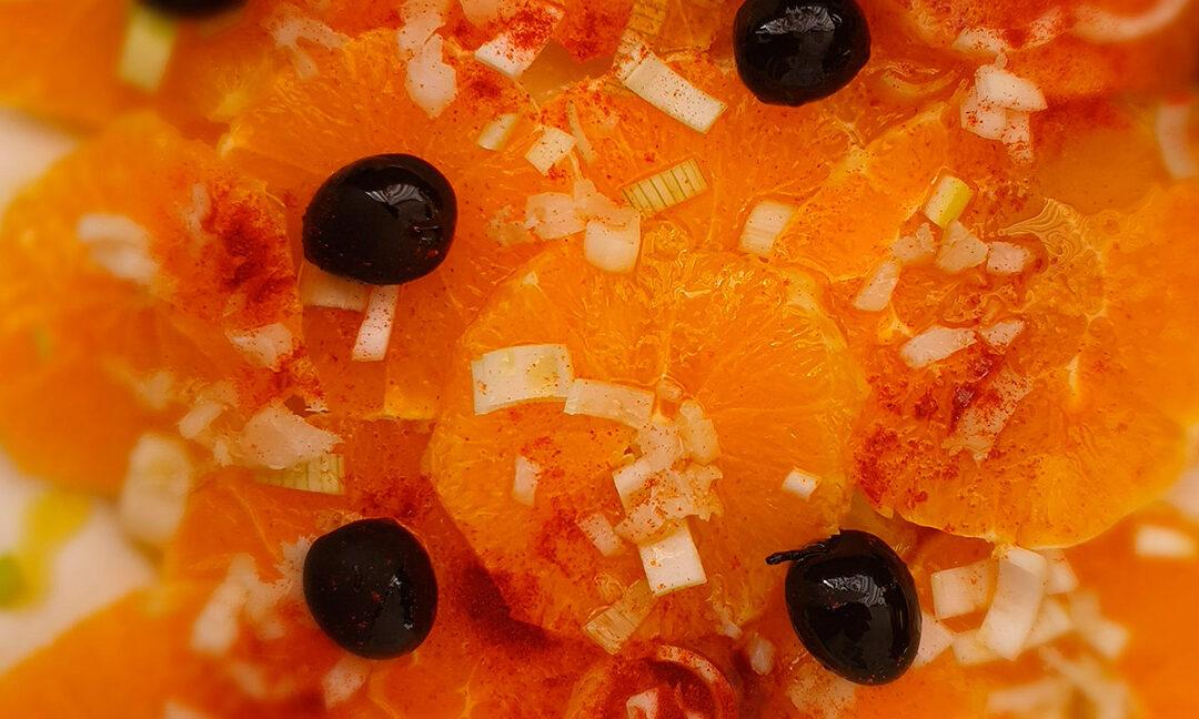 Ensalada de Naranja, Bacalao y AOVE Solive Natural Food